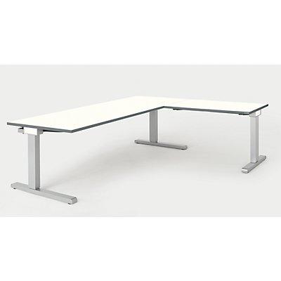 mauser Schreibtisch, verkettet - BxT 2000 x 800 mm, Winkelansatz rechts (Breite 1000 mm)