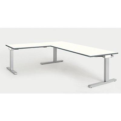 mauser Schreibtisch, verkettet - BxT 2000 x 800 mm, Winkelansatz links (Breite 1000 mm)