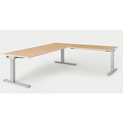mauser Schreibtisch, verkettet - BxT 2000 x 800 mm, Winkelansatz rechts (Breite 1200 mm)