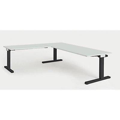 mauser Schreibtisch, verkettet - BxT 2000 x 800 mm, Winkelansatz links (Breite 1200 mm)