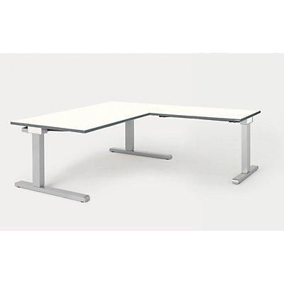 mauser Schreibtisch, verkettet - BxT 1600 x 900 mm, Winkelansatz rechts (Breite 1000 mm)