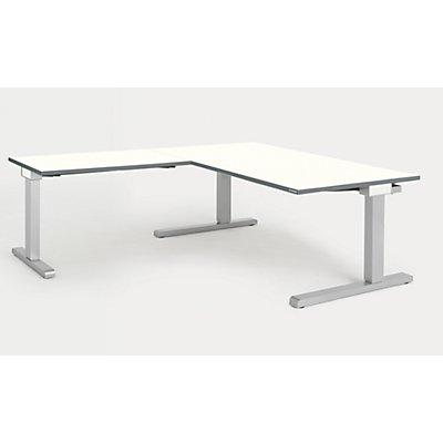 mauser Schreibtisch, verkettet - BxT 1600 x 900 mm, Winkelansatz links (Breite 1000 mm)