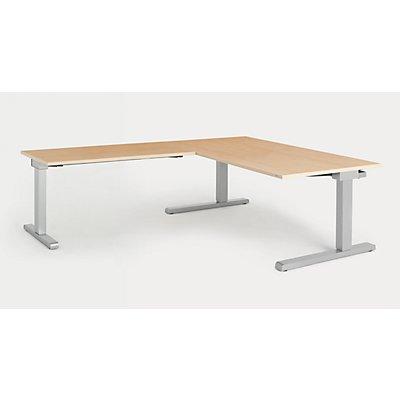 mauser Schreibtisch, verkettet - BxT 1600 x 900 mm, Winkelansatz links (Breite 1200 mm)