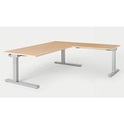 mauser Schreibtisch, verkettet - BxT 1800 x 900 mm, Winkelansatz rechts (Breite 1000 mm)