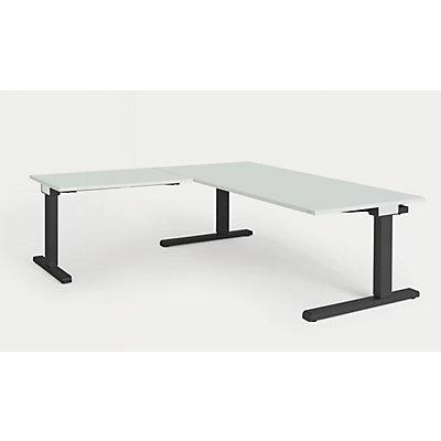 mauser Schreibtisch, verkettet - BxT 1800 x 900 mm, Winkelansatz links (Breite 1000 mm)