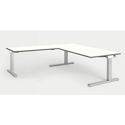 mauser Schreibtisch, verkettet - BxT 1800 x 900 mm, Winkelansatz links (Breite 1200 mm)