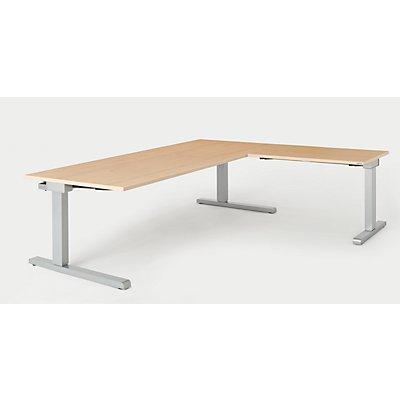mauser Schreibtisch, verkettet - BxT 2000 x 900 mm, Winkelansatz rechts (Breite 1000 mm)