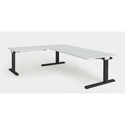 mauser Schreibtisch, verkettet - BxT 2000 x 900 mm, Winkelansatz links (Breite 1000 mm)