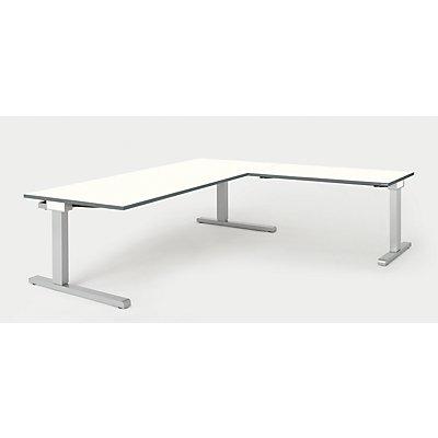 mauser Schreibtisch, verkettet - BxT 2000 x 900 mm, Winkelansatz rechts (Breite 1200 mm)
