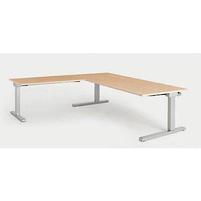 mauser Schreibtisch, verkettet - BxT 2000 x 900 mm, Winkelansatz links (Breite 1200 mm)
