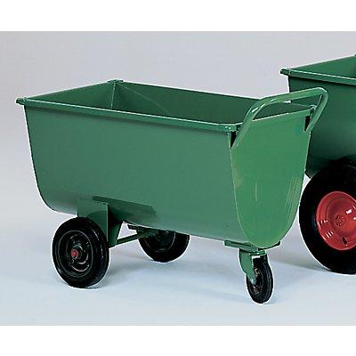 Muldenwagen, 190 l - Vollgummireifen, Höhe ohne Schiebebügel 660 mm