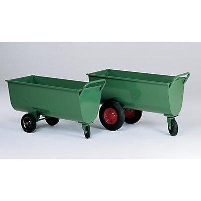 Muldenwagen, 250 l - Luftgummireifen, Höhe ohne Schiebebügel 730 mm