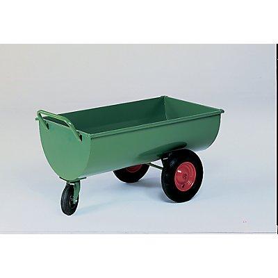 Muldenwagen, 300 l - Luftgummireifen, Höhe ohne Schiebebügel 660 mm