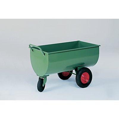 Muldenwagen, 400 l - Lenkrolle 260 x 85 mm, Gewicht 55 kg