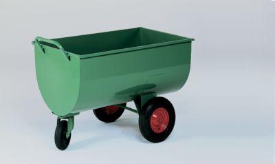 Muldenwagen, 500 l - Luftgummireifen, Höhe ohne Schiebebügel 885 mm