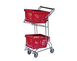 Einkaufswagen - für Körbe, LxBxH 560 x 260/415 x 975 mm