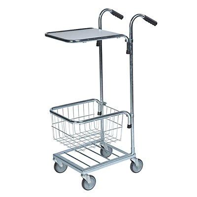 Kleintransportwagen - 1 Boden, 1 Korb, Tragfähigkeit 35 kg
