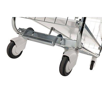 Verzinkter Etagenwagen, Tragfähigkeit 250 kg - 3 Böden