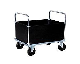 Verzinkter Plattformwagen - Kofferaufbau hoch