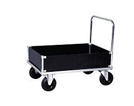 Verzinkter Plattformwagen - Kofferaufbau niedrig