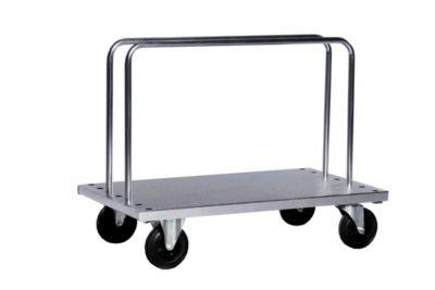 Verzinkter Schwerlast-Bügelwagen - inkl. 2 Bügel, LxBxH 1250 x 700 x 945 mm, Tragfähigkeit 500 kg