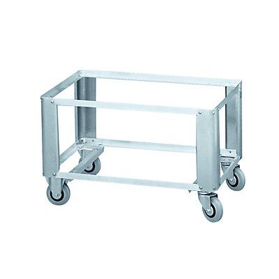 ZARGES Alu-Untersetzwagen W152 - für Aluminium-Kiste, Außen-LxBxH 790 x 590 x 452,5 mm
