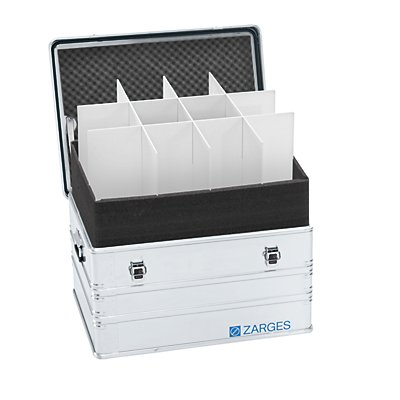 ZARGES Trennwandset - passend für Innen-LxB 750 x 550 mm, 2 Querteiler