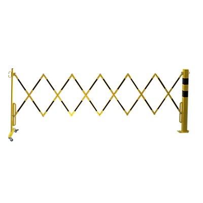 dancop Sperrpfosten mit Scherengitter - Vierkantrohr 70 x 70 mm, zum Aufdübeln