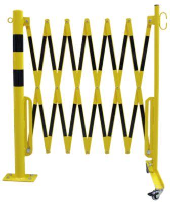 Sperrpfosten mit Scherengitter - Rundrohr Ø 60 mm, zum Aufdübeln
