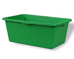 EUROKRAFT Kunststoffmulde - Inhalt 90 l, 640 x 350 mm - grün