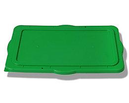 Couvercle de gerbage pour bac en plastique - en polyéthylène, fermeture hermétique - vert
