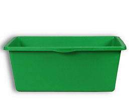 EUROKRAFT Kunststoffmulde - Inhalt 90 l, 640 x 350 mm - grün, VE 3 Stk