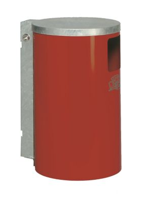 Außen-Abfallsammler - aus Stahlblech, Inhalt 30 l