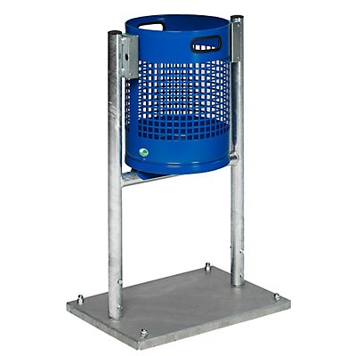 Collecteur de déchets pour l'extérieur - capacité 30 l, avec châssis en tube