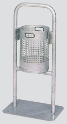 Außen-Abfallsammler - Inhalt 30 l, mit Rohrbogen
