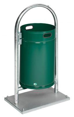 Außen-Abfallsammler - Inhalt 60 l, mit Rohrbogen