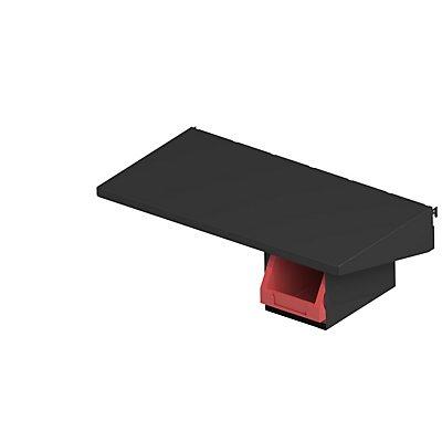 AXELENT Ablagebord QUICK ON - HxBxT 95 x 598 x 317 mm - tiefschwarz