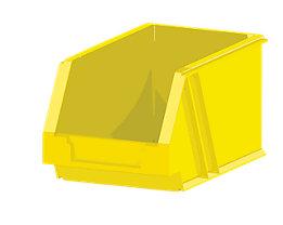 AXELENT Aufbewahrungsbox QUICK ON - LxBxH 200 x 130 x 130 mm - melonengelb