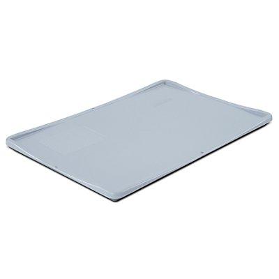 VECTURA Auflagedeckel für Euronorm-Behälter - LxB 600 x 400 mm - grau