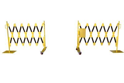 Scherengitter - Stahlfuß und Rollen