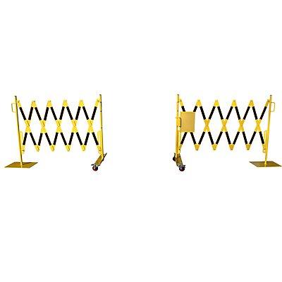 dancop Scherengitter - Stahlfuß und Rollen