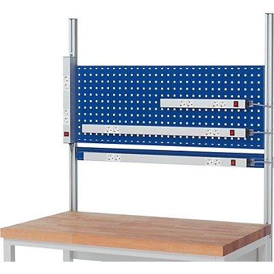 RAU Energieleiste für Arbeitstisch - Aluminium, Länge 1000 mm