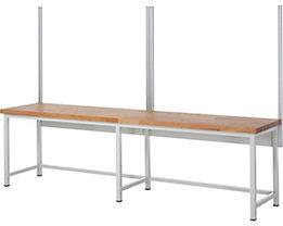 RAU System-Stützensatz - 4 System-Stützen, für Werktisch-Breite 3000 mm