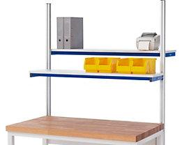 RAU Etagenbord für Arbeitstisch - Tragkraft 30 kg, für Feldbreite 1250 mm