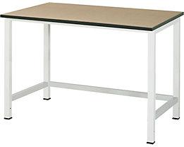 RAU Werktisch, höhenverstellbar - MDF-Platte, Breite 1250 mm