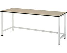 RAU Werktisch, höhenverstellbar - MDF-Platte, Breite 2000 mm