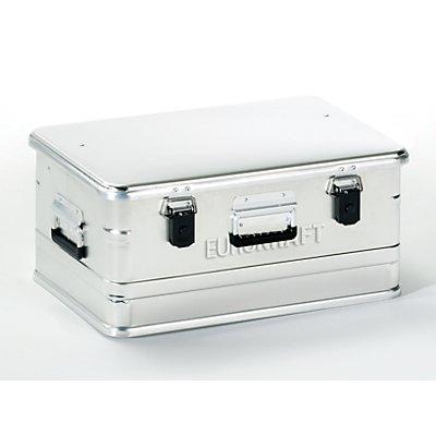 EUROKRAFT Aluminiumbehälter ohne Stapelecken - Inhalt 47 l, LxBxH 582 x 385 x 277 mm