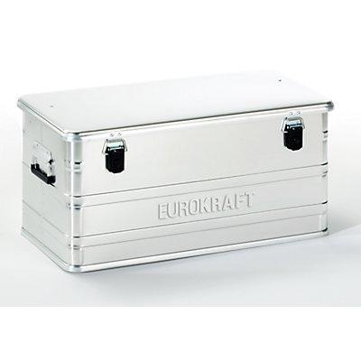 EUROKRAFT Aluminiumbehälter ohne Stapelecken - Inhalt 91 l, LxBxH 782 x 385 x 379 mm