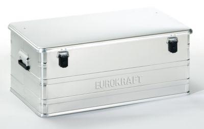 EUROKRAFT Aluminiumbehälter ohne Stapelecken - Inhalt 140 l, LxBxH 902 x 495 x 379 mm