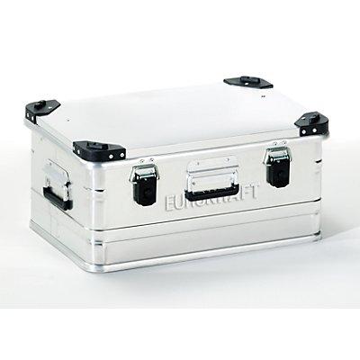 EUROKRAFT Aluminiumbehälter mit Stapelecken - Inhalt 47 l, LxBxH 582 x 385 x 277 mm
